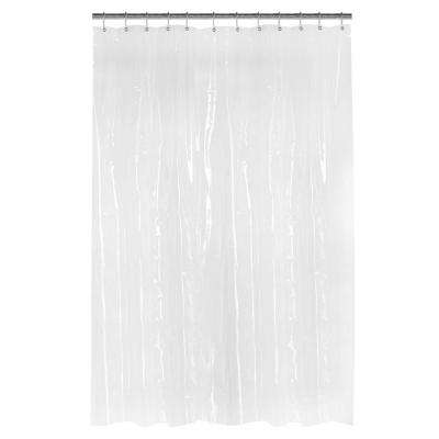 PEVA Oversized Heavy 7-Gauge 84 in. W x 72 in. H Shower Curtain Liner in Frosted Clear