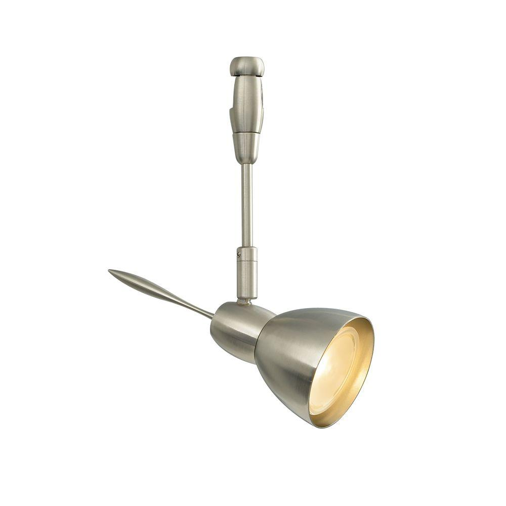 LBL Lighting Vent 1-Light Satin Nickel Track Lighting Head Vent 6 in. 1-Light Satin Nickel Halogen Track Lighting Head easily blends with your home's existing decor. This is a low-voltage head. Sleek head with multiple accessory options; rotates 360°, pivots 90°.