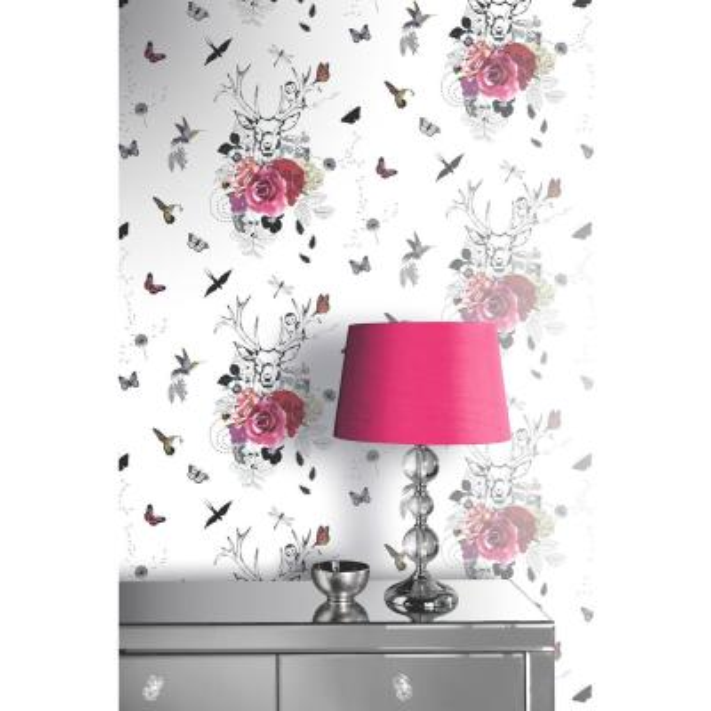 Spellbound White Multi Wallpaper