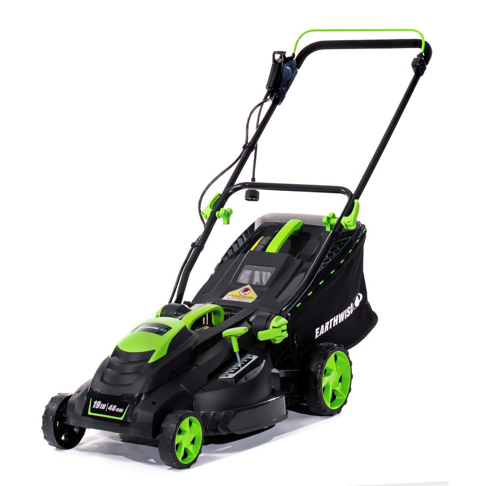 Earthwise 19 in. 13 Amp Corded Electric Walk Behind Push Lawn Mower
