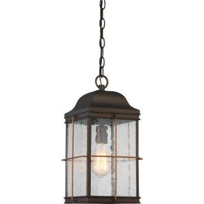1-Light Bronze Hanging Lantern
