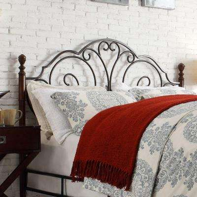 Talbert Antique Bronze and Cherry King Headboard