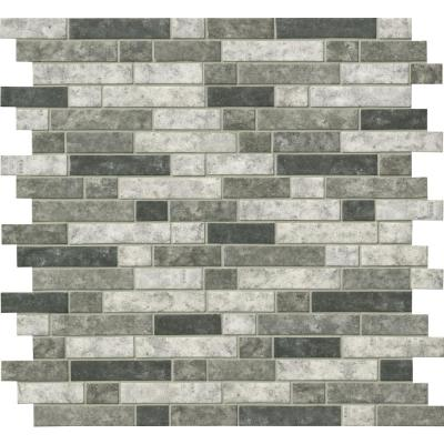Urban Tapestry Interlocking 11.81 in. x 11.81 in. x 6 mm Glass Mesh-Mounted Mosaic Tile (14.55 sq. ft./case)