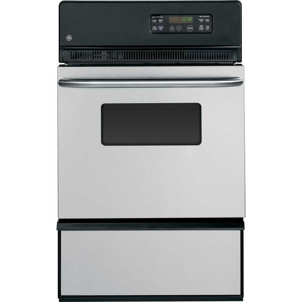 GE 24 in. Single Gas Wall Oven Self-Cleaning in Stainless Steel