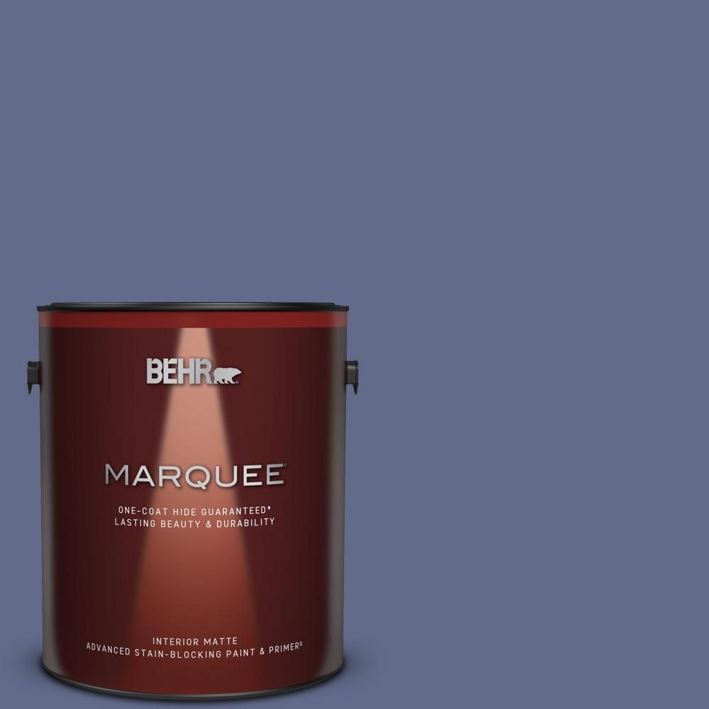 Behr Marquee 1 Gal S540 6 Dangerously Elegant One Coat Hide Matte Interior Paint Primer 145301 The Home Depot