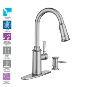 Moen Hensley Single Handle Pull Down Sprayer Kitchen Faucet With