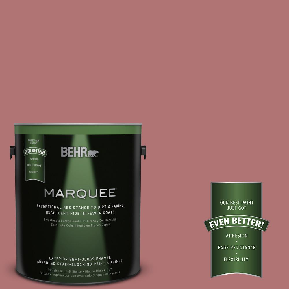 BEHR MARQUEE 1-gal. #S140-5 Red Gerbera Semi-Gloss Enamel Exterior Paint