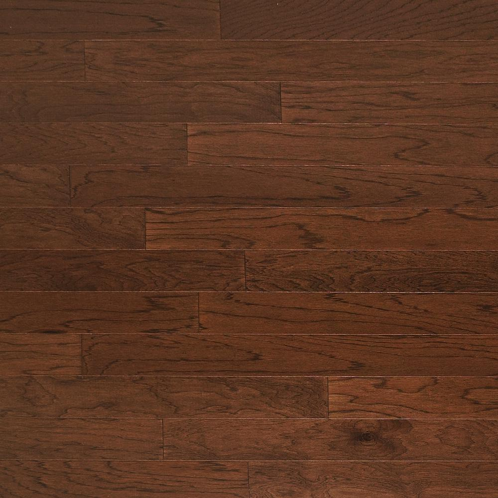 Heritage Mill Take Home Sample Hickory Truffle Engineered Click Hardwood Flooring 5 In. X 7 In.