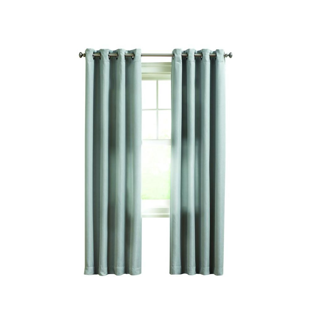 Home decorators collection seagrass briarhill room darkening curtain 50 in w x 63 in l Home decorators collection valance