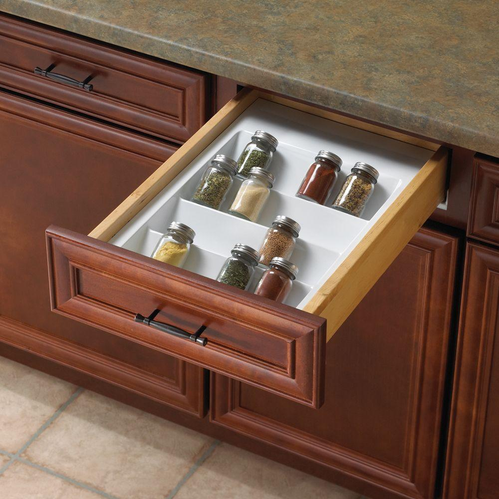 Real Solutions for Real Life 2 in. x 14.75 in. x 21 in. Spice Drawer Organizer