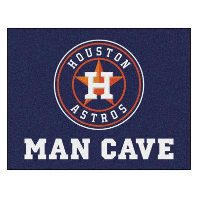 MLB - Houston Astros Man Cave All-Star 33.75 in. x 42.5 in. Indoor Area Rug