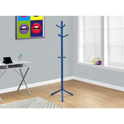 Blue 8-Hook Coat Rack