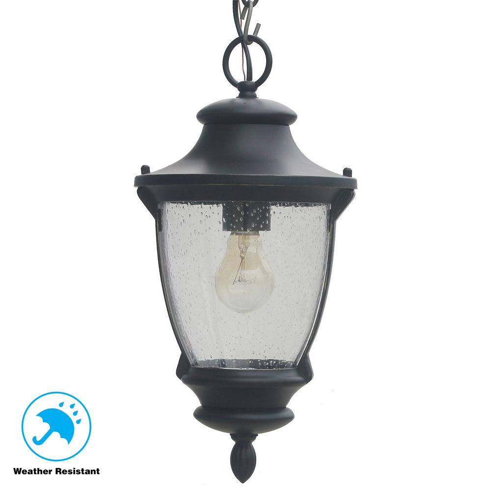 Home Decorators Collection Wilkerson 1-Light Black Outdoor