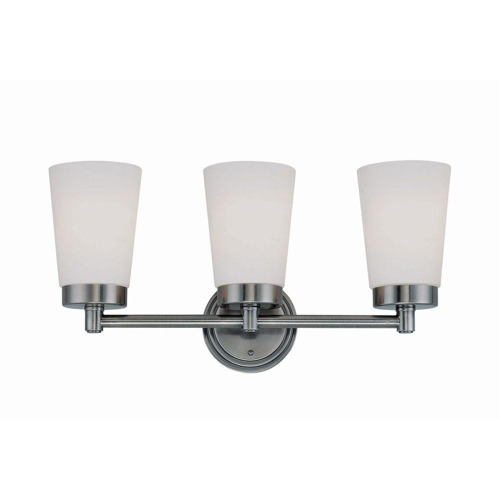 Illumine 3-Light Vanity Lamp Frost Glass Gun Metal Finish