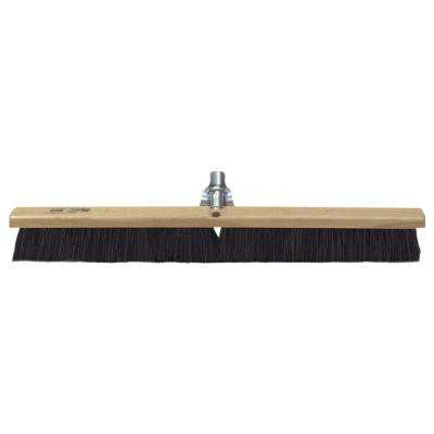 24 in. Black Horsehair Concrete Floor/Finish Broom -Wood Block
