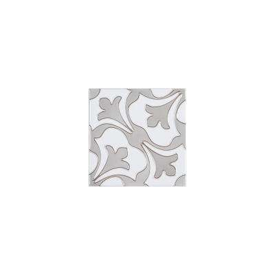 Fiore Gray 6 in. x 6 in. x Glossy Ceramic Wall Tile