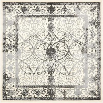 La Jolla Traditional Gray 8' 0 x 8' 0 Square Rug