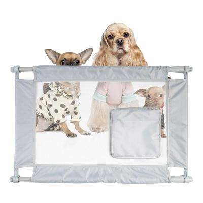 Grey Porta-Gate Travel Collapsible and Adjustable Folding Pet Cat Dog Gate