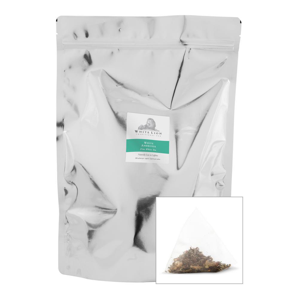Tea White Ambrosia Bulk Sachets Food Service Tea Bags (200 per Pack)