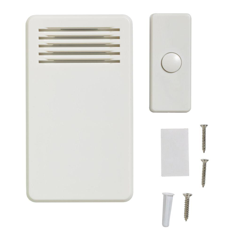 75 dB Wireless Battery Operated Door Bell Kit with 1-Push Button,