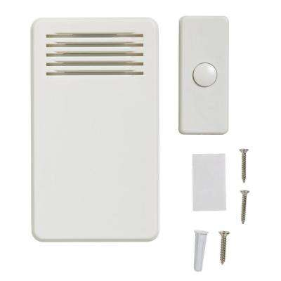 75 DB Wireless Battery Operated Door Bell Kit With 1 Push Button, White