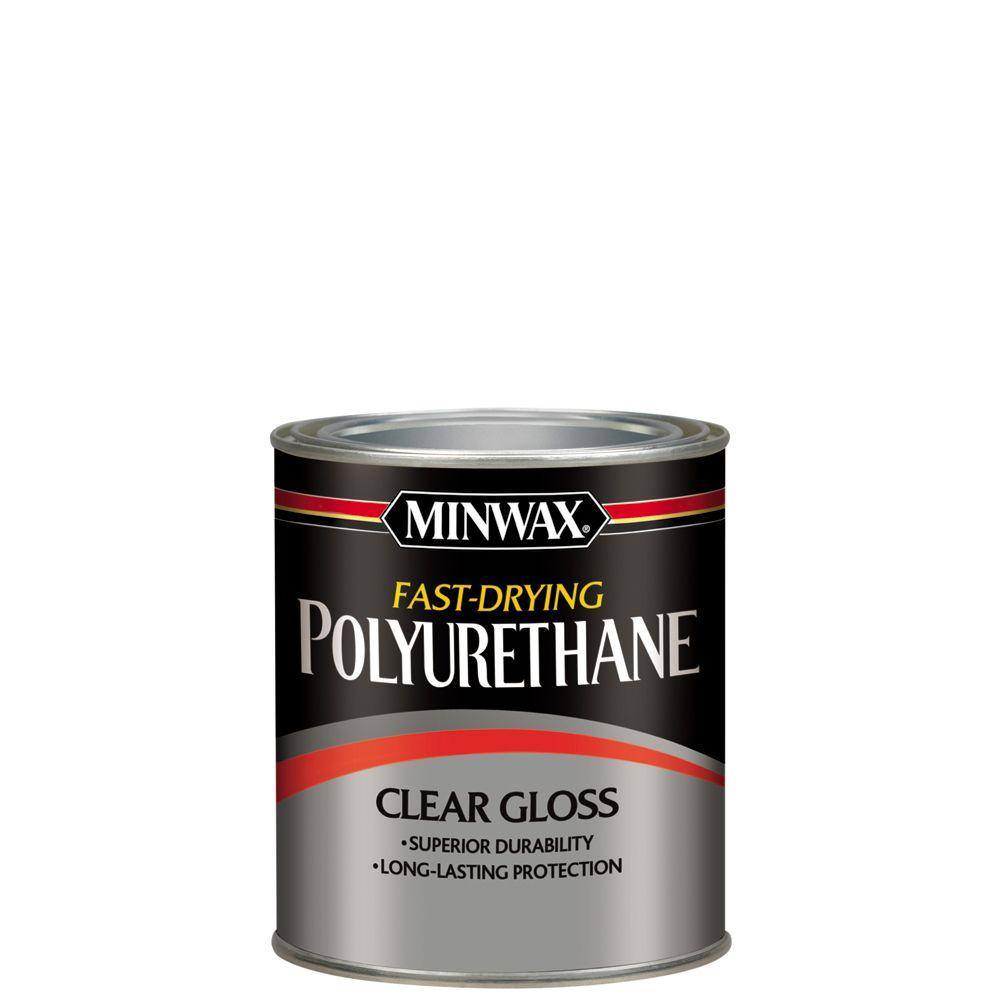 Minwax 1 qt. Clear Gloss Fast-Drying Polyurethane Interior Wood Protective Finish