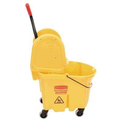 Wave Brake 35 Qt. Yellow Down-Press Combo Mop Bucket and Wringer System