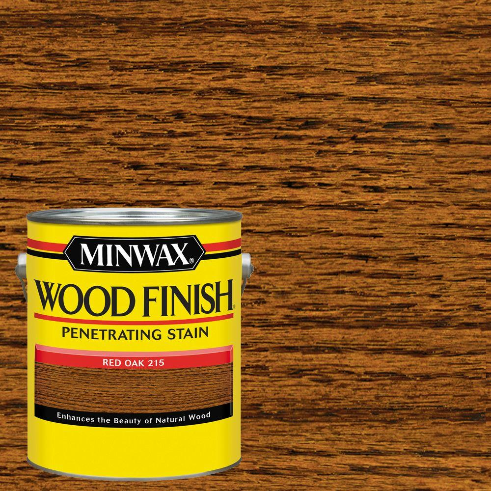 1 gal. Wood Finish Red Oak Oil Based Interior Stain (2-Pack)