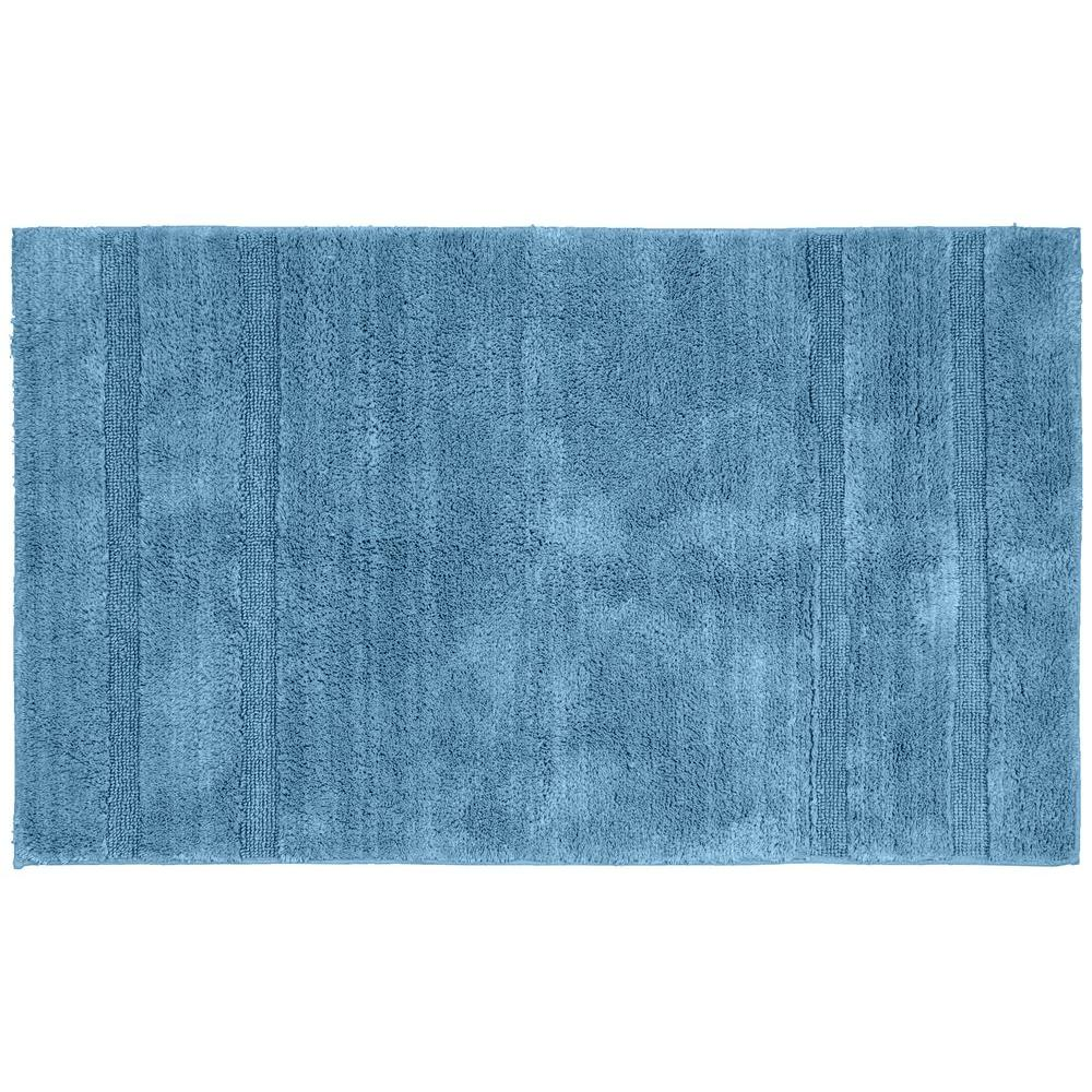 Washable Rugs Home Depot: Garland Rug Majesty Cotton Sky Blue 30 In. X 50 In