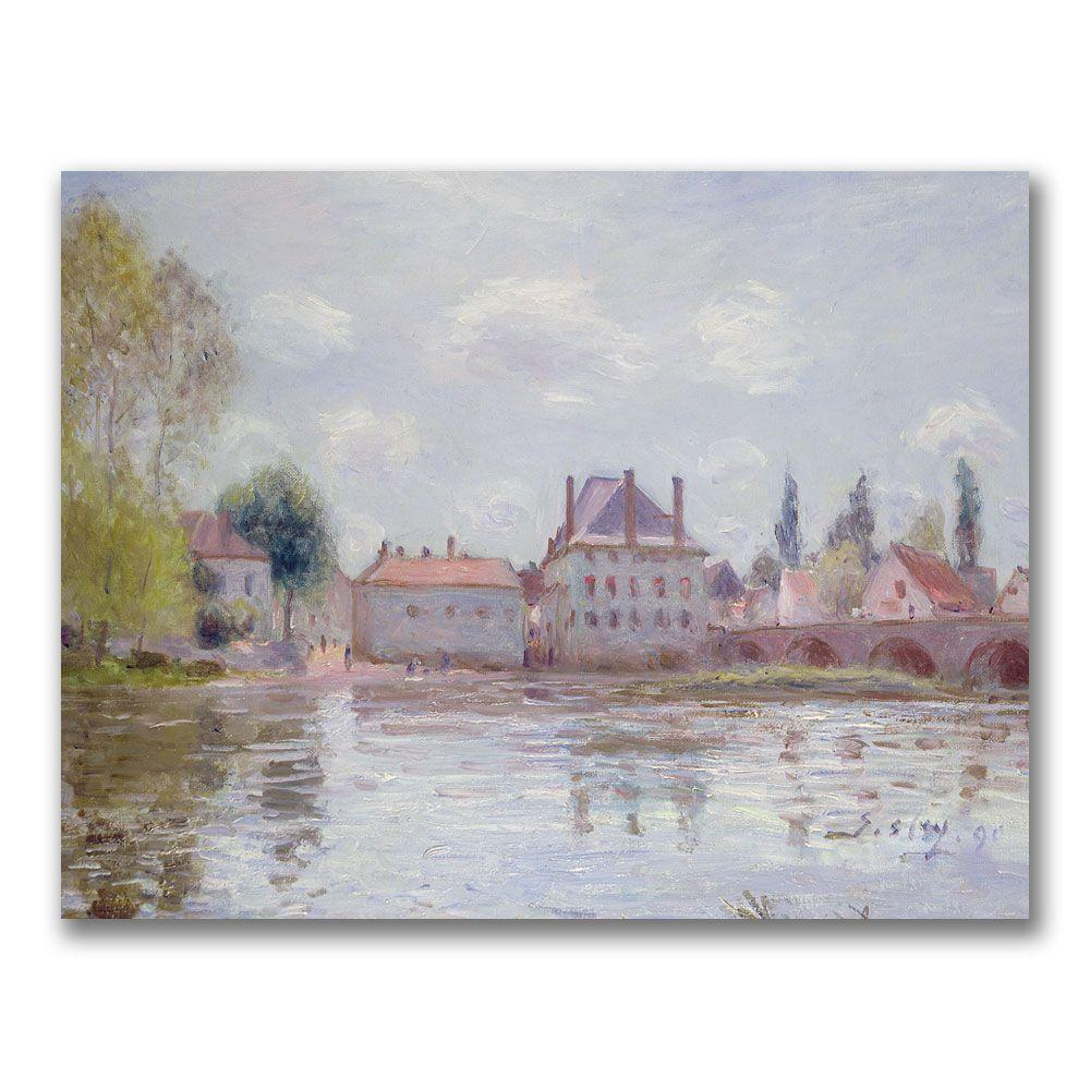 24 in. x 32 in. The Bridge at Moret-sur-Loing Canvas Art