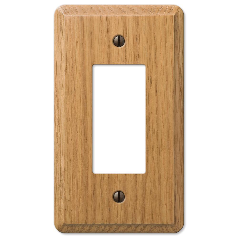 Contemporary 1 Gang Rocker Wood Wall Plate - Light Oak