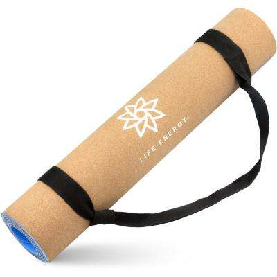 EkoSmart Cork Yoga Mat with Yoga Strap