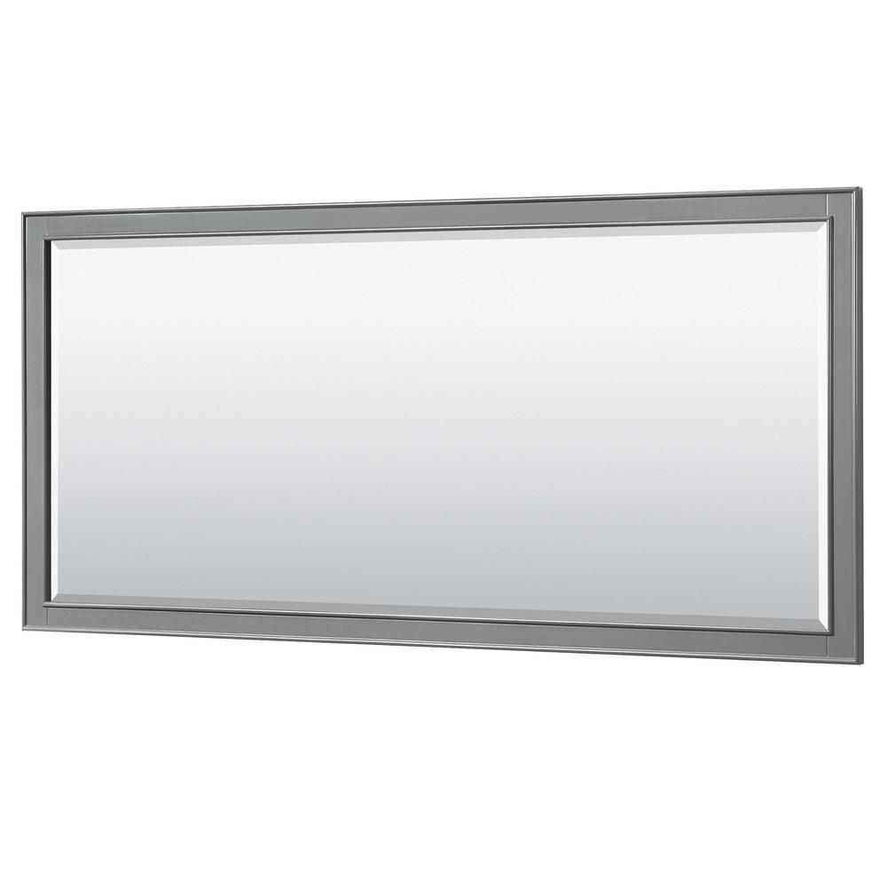 Deborah 70 in. W x 33 in. H Framed Wall Mirror in Dark Gray
