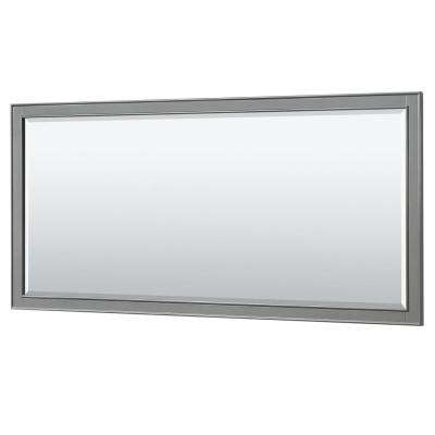 Deborah 70 in. W x 33 in. H Framed Wall Mirror in Dark Gray