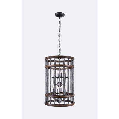 Dene 8-Light Gun Metal Chandelier