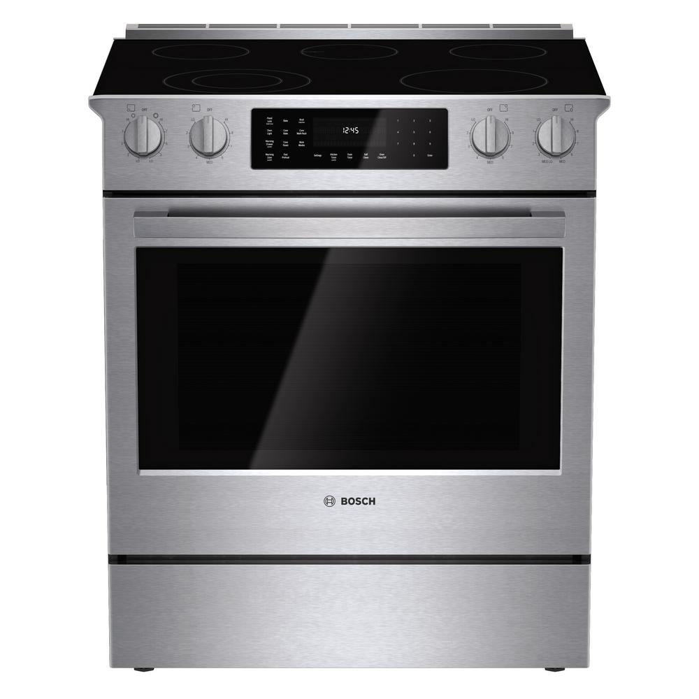 800 Series 30 in. 4.6 cu. ft. Slide-In Radiant Electric Range