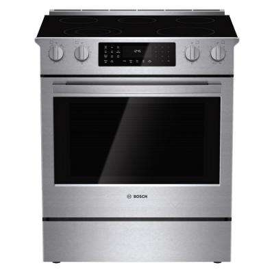 800 Series 30 in. 4.6 cu. ft. Slide-In Radiant Electric Range with Self-Cleaning Convection Oven in Stainless Steel