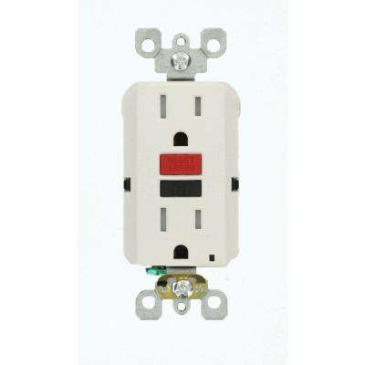15 Amp 125-Volt Self-Test Tamper Resistant GFCI Outlet, White