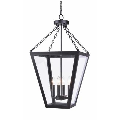 Mattox 4-Light Bronze Foyer Light pendant