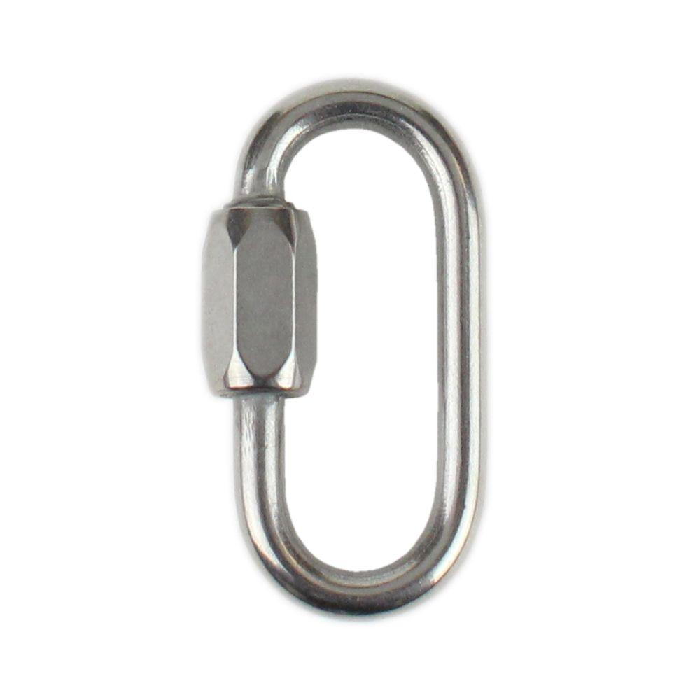 Swing Hammock 1100lbs Capacity Stainless Steel Oval Locking Carabiner Heavy Duty Threaded Quick Chain Link for Tire Gym Rope Connector and Trailer Camping 10Pack Quick Link 5//16Inch