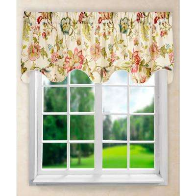 Brissac 17 in. L Polyetser Lined Scallop Valance in Red