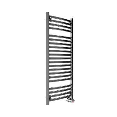 21-Bar Wall Mounted Electric Towel Warmer with Digital Timer in Polished Chrome