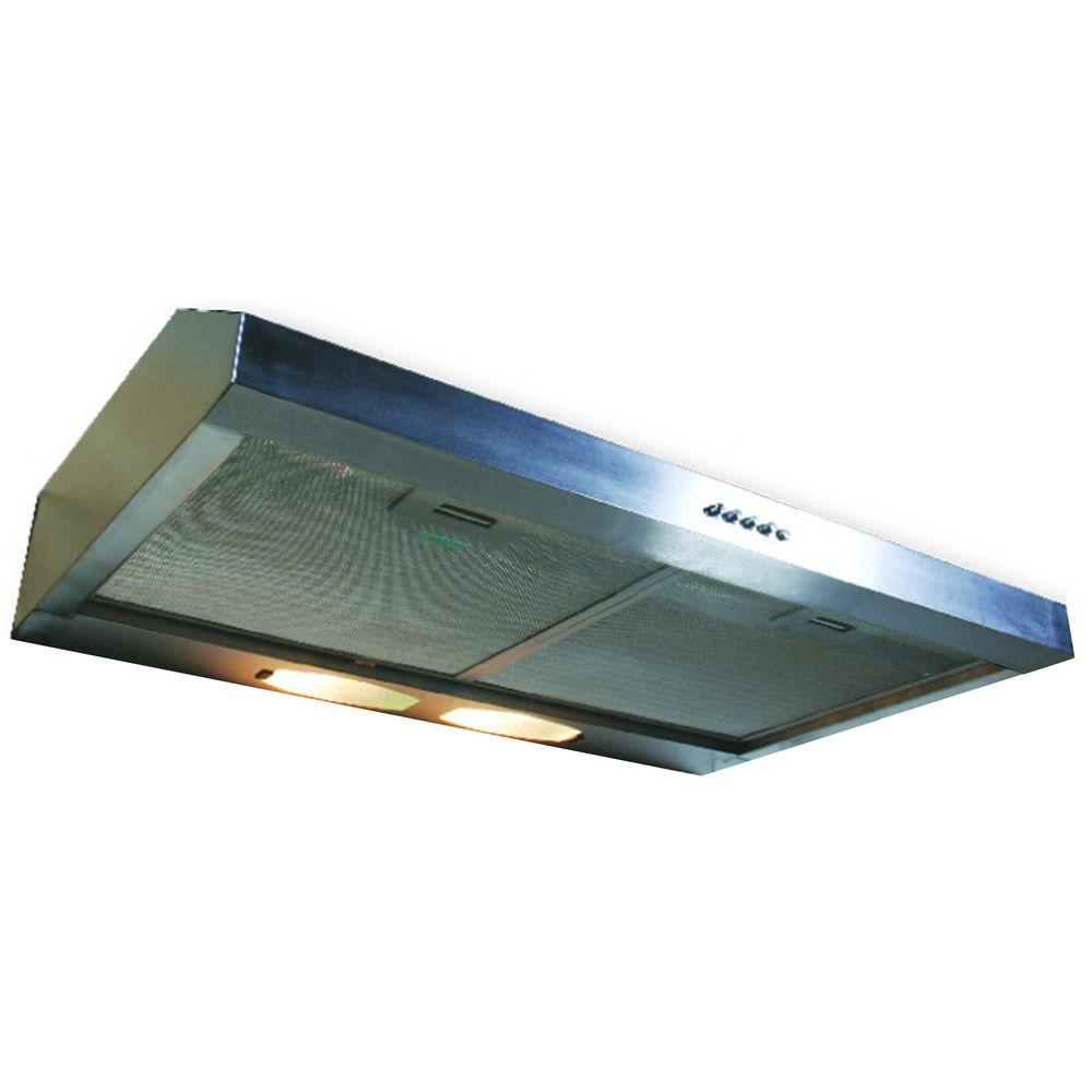 Yosemite Home Decor Builder Series 30 in. Under Cabinet Hood with 190 CFM in Stainless Steel