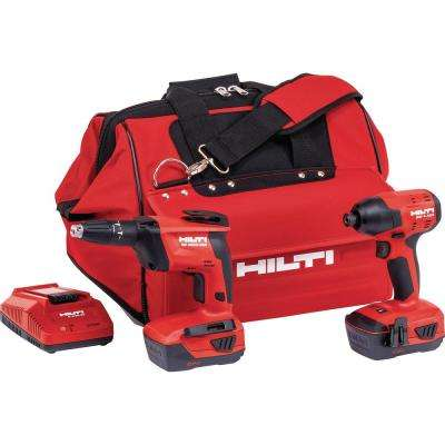 SID 4 and SD4500 22-Volt Advanced Compact Battery Cordless Combo Kit Impact Driver and Drywall Screw Gun in a Tool Bag
