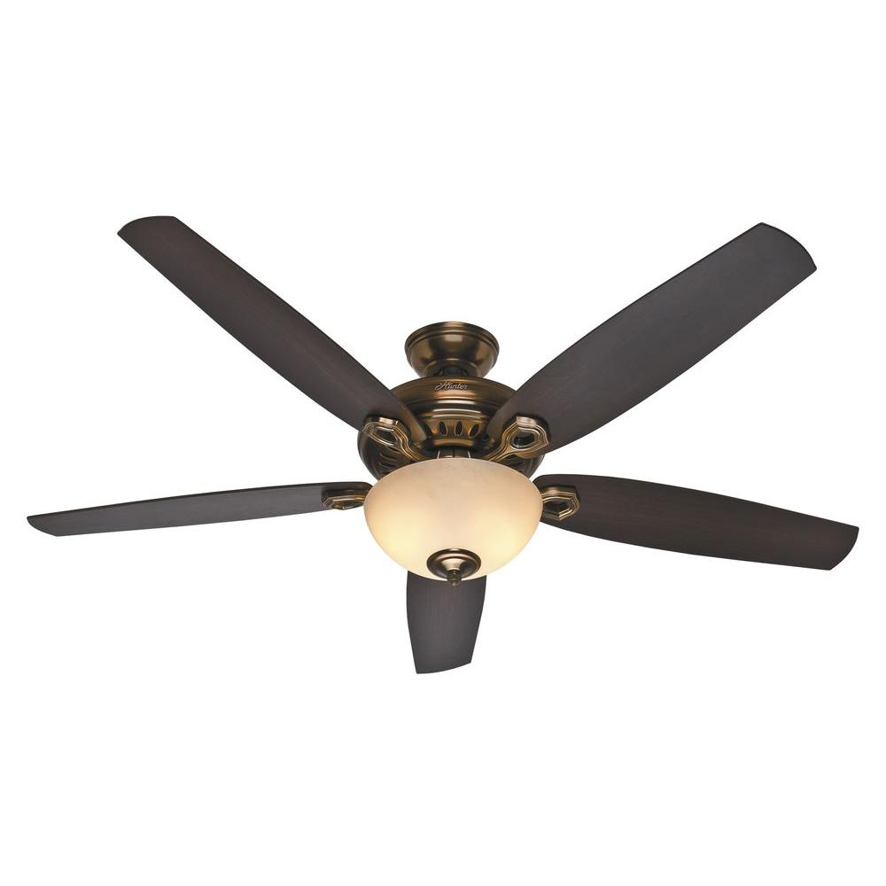 Hunter Valerian 60 In Indoor Bronze Patina Ceiling Fan With Light