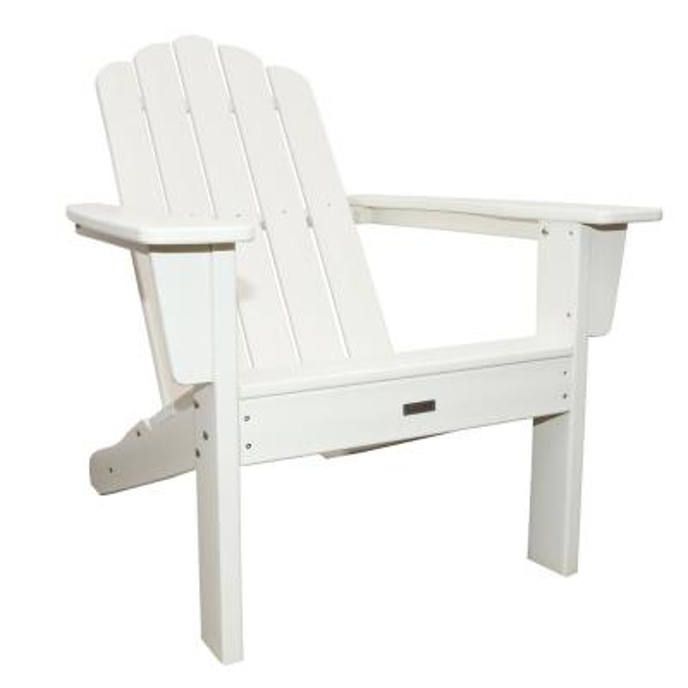 Marina White Plastic Outdoor Patio Adirondack Chair