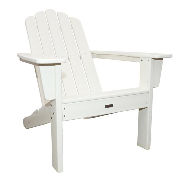 Marina White Plastic Outdoor Patio Adirondack Chair