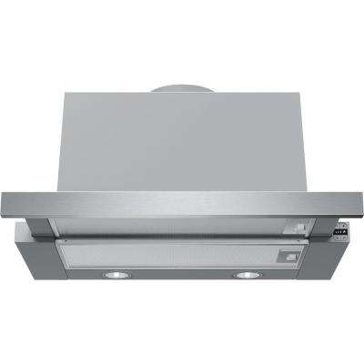 500 Series 24 in. Under Cabinet Convertible Range Hood with LED Lights in Stainless Steel