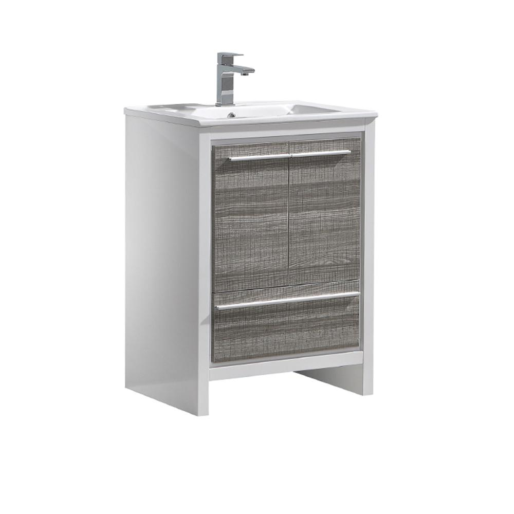 Allier Rio 24 in. Modern Bathroom Vanity in Ash Gray with