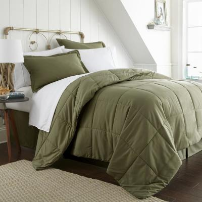Performance 6-Piece Sage Twin Bed in a Bag Set